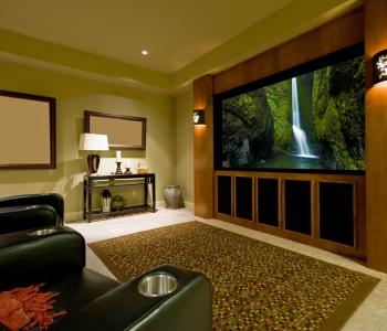 image of a big tv inside of a living room space