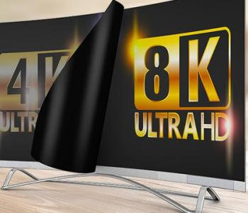 product photo of an 8k tv