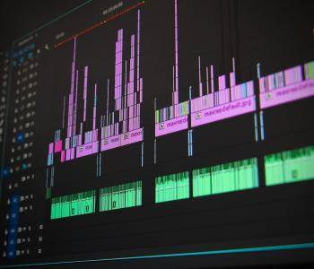 image of a dark computer screen with audio files on it