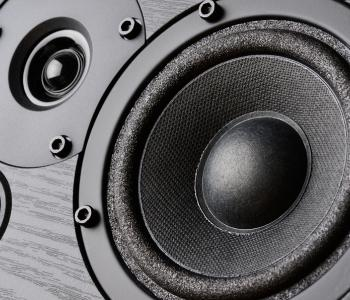 image of a close up of speakers