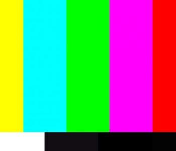 image of the video calibration color lines from a tv