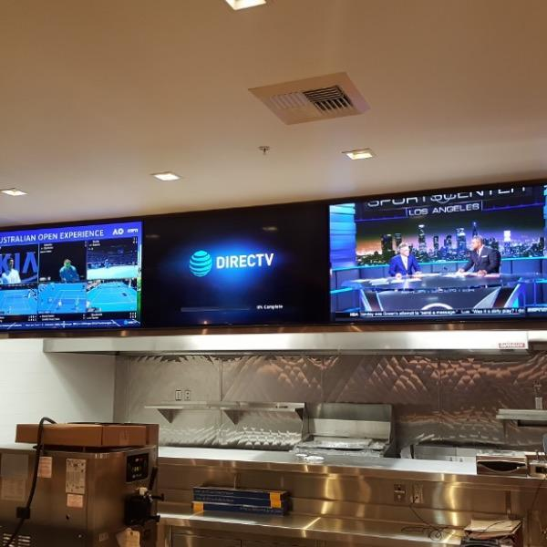 Restaurant with custom mounted TVs