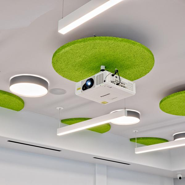 ceiling mounted projector for conference room